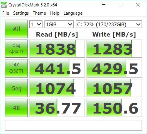 tốc độ Xiaomi notebook pro