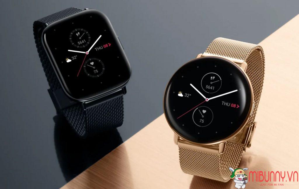 đồng hồ Huami ra mắt Zepp E Square và Zepp E Circle